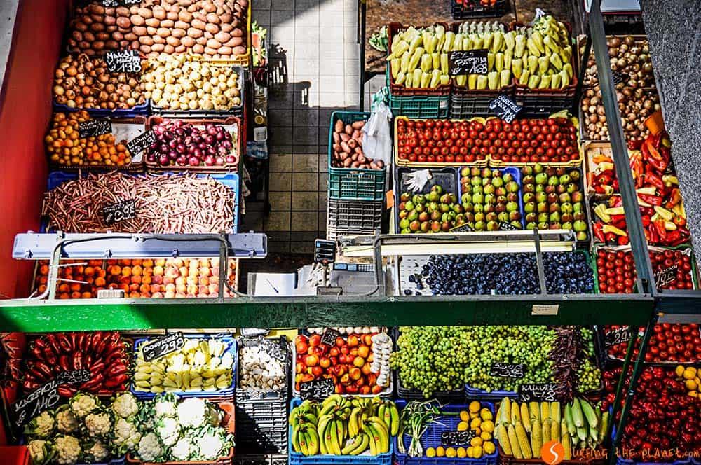 Dónde comer en Budapest   Frutas y verduras en el mercado