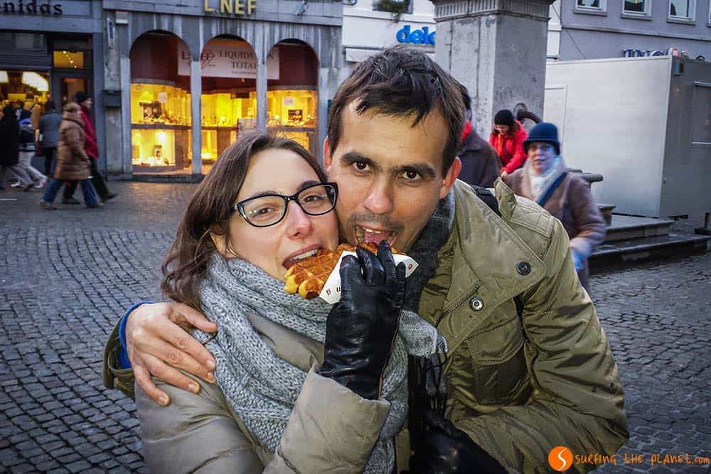Waffles in Mons Belgium