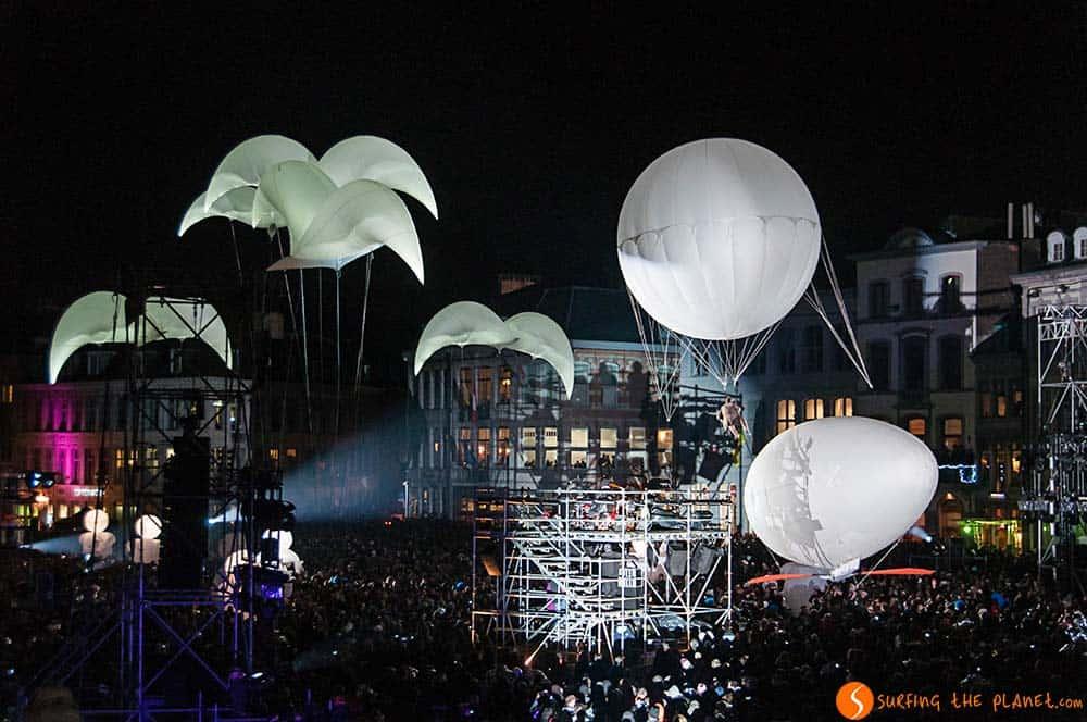 Visitar Mons - Fiesta inauguración Capital Cultura 2015
