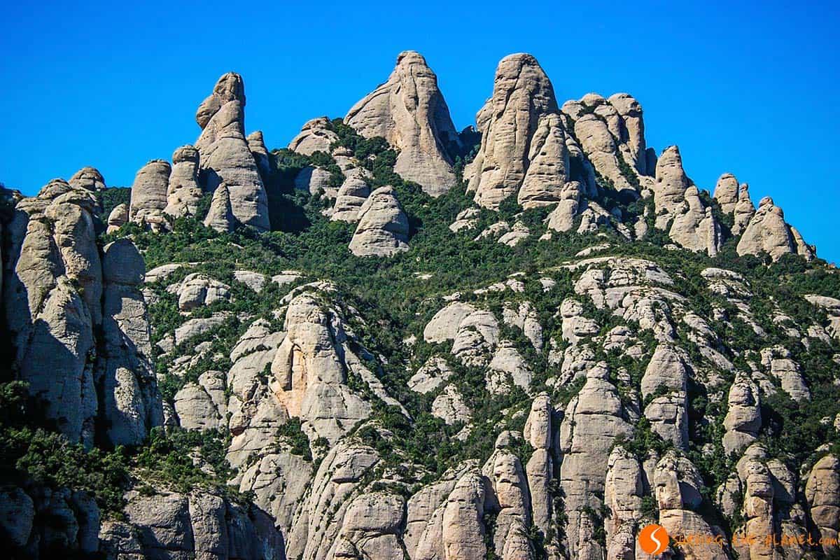 Particolari montagne a Montserrat Barcellona