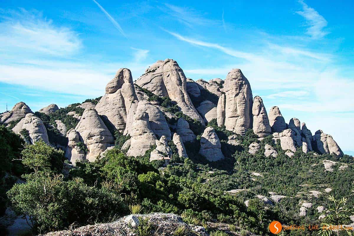 Forma particolare montagna Montserrat Barcellona