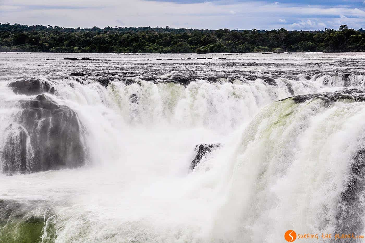 El centro de la Garganta del Diablo - Iguazú maravilla del mundo