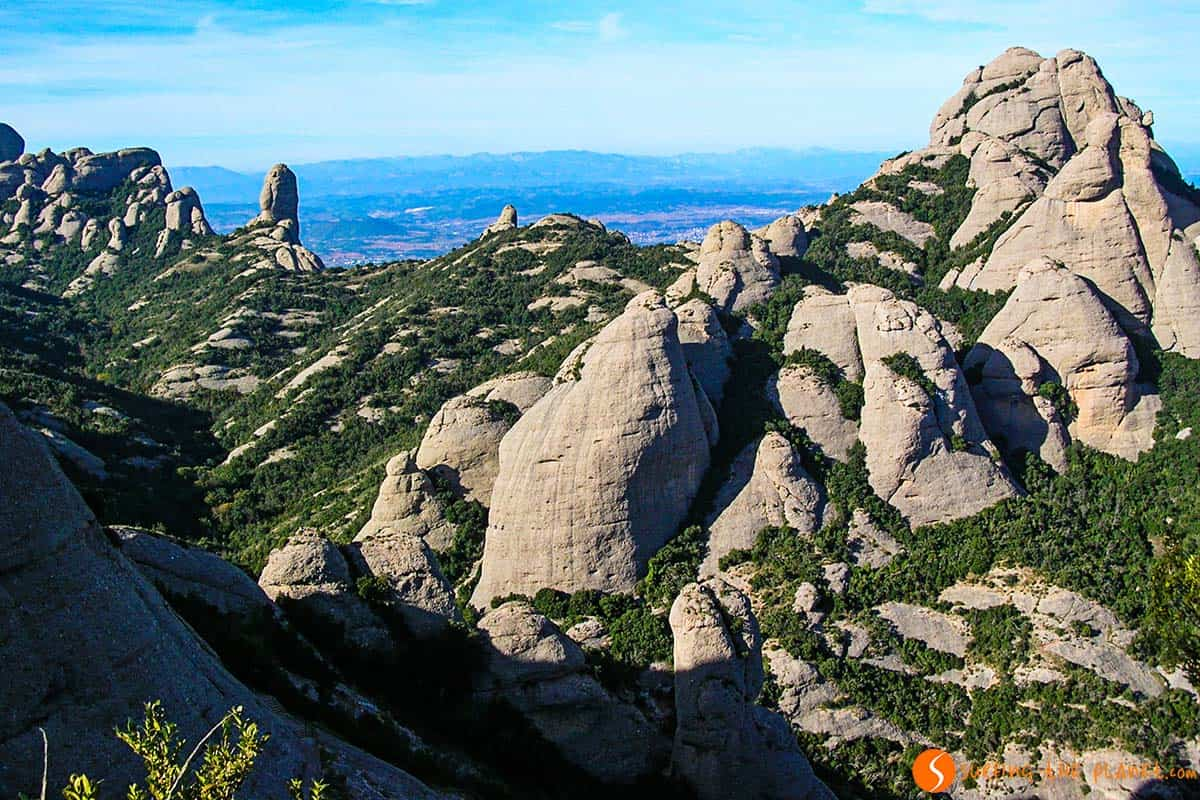 Las montañas de Montserrat, Cataluña, España