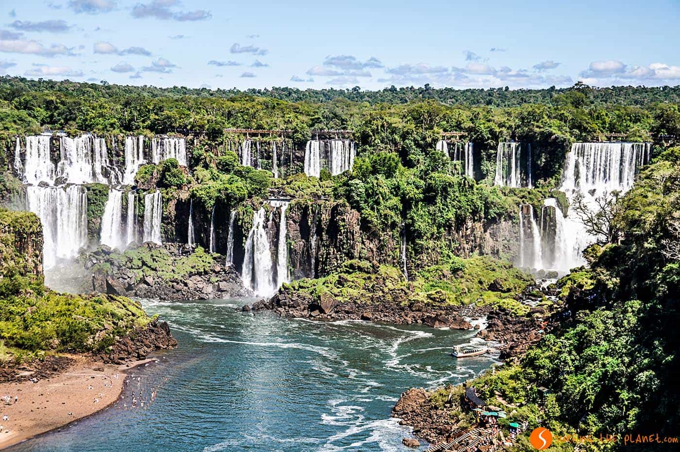 Spettacolare cascate Iguazù
