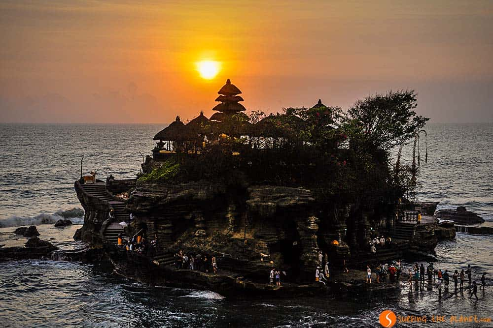 Atardecer en Templo de Tanah Lot, Bali, Indonesia | Que ver Indonesia 3 semanas