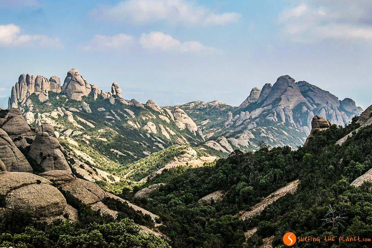 Ruta al Sant Jeroni, Montserrat, Barcelona, Cataluña