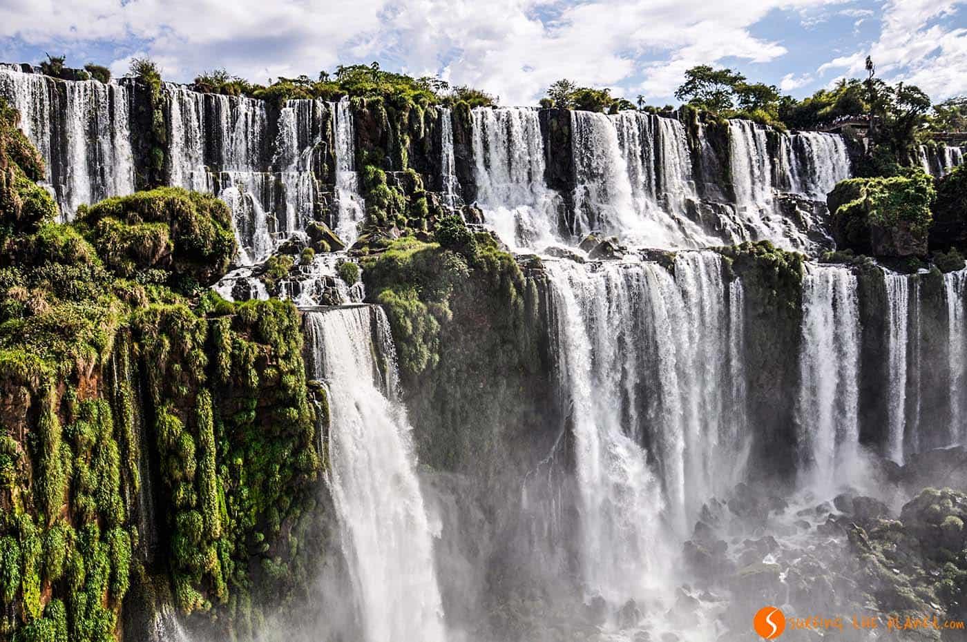 Panotama delle cascate di iguazù Argentina