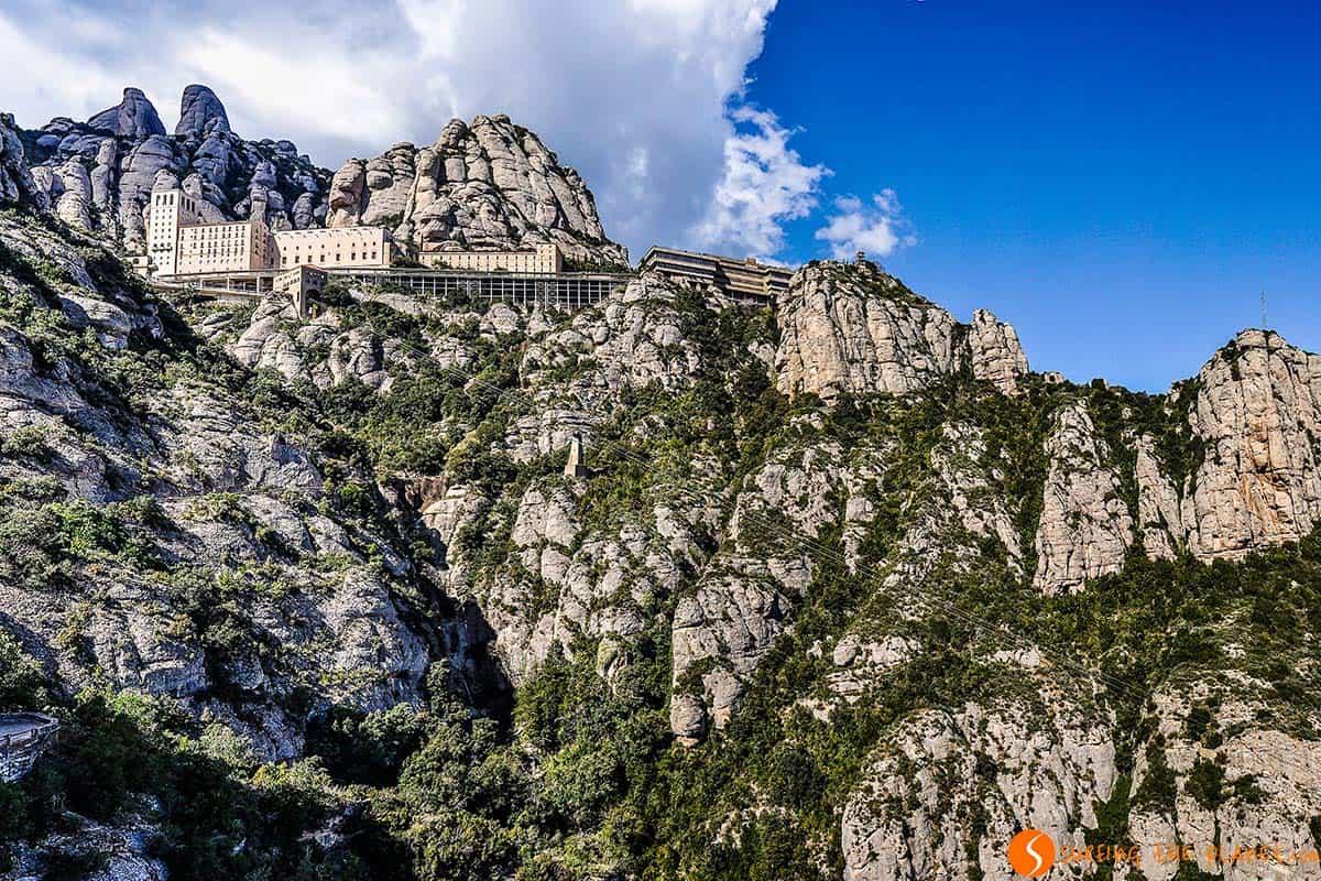 Monasterio de Montserrat desde la Cruz de San Miquel, Cataluña