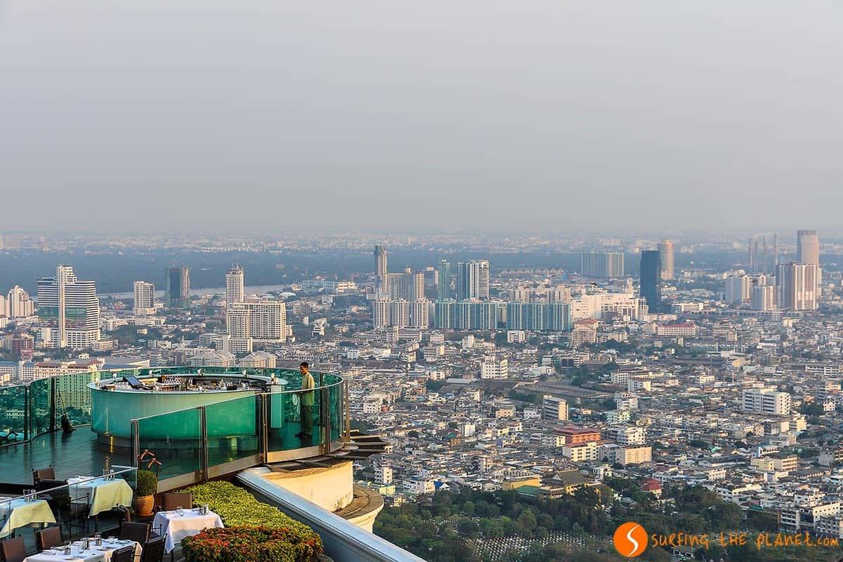 Vista de la ciudad, Skybar, Bangkok, Tailandia