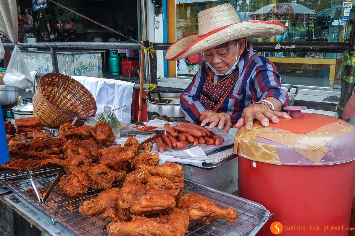 Comida callejera, Chiang Mai, Tailandia
