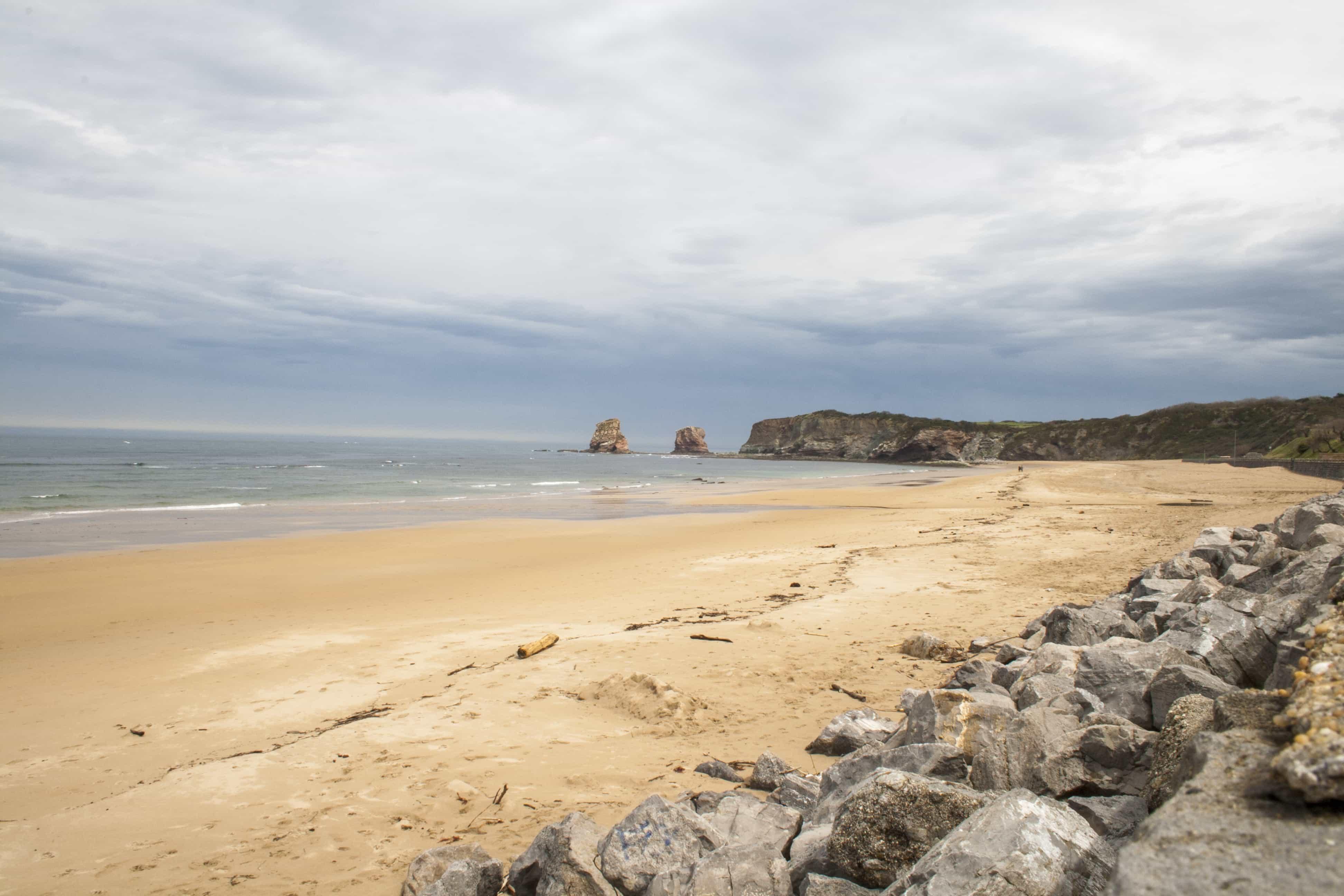 La playa Ondarraitz en Hendaya