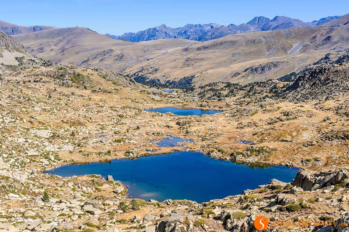 View of the lakes, Route of Pessons | Hiking in Andorra