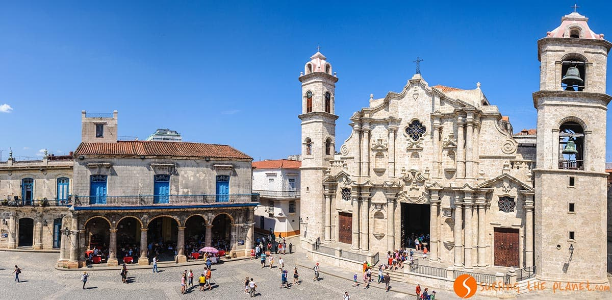 Plaza de la catedral desde arriba, La Habana, Cuba