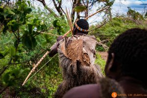 Cazando con los bosquimanos en Lago Eyasi, Tanzania