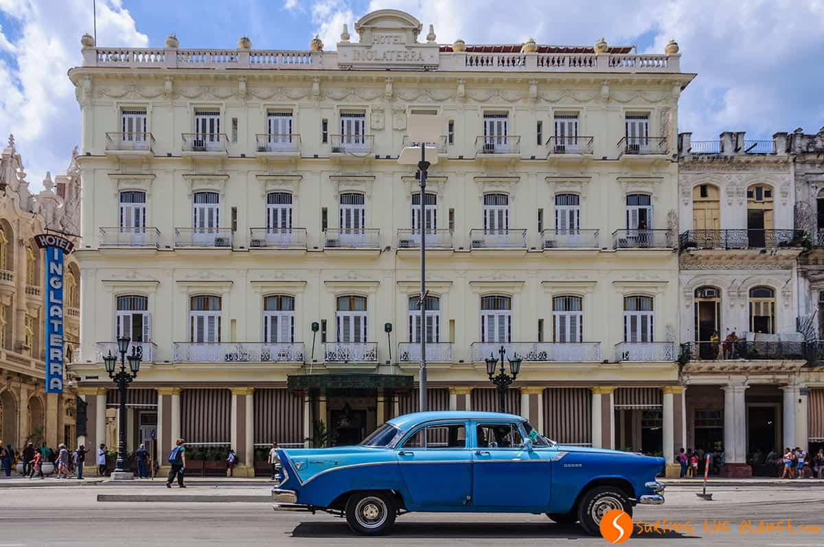 Hotel Inglaterra in Havana. Traveling to Cuba