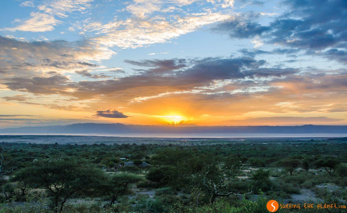 Atardecer en Lago Eyasi, Tanzania