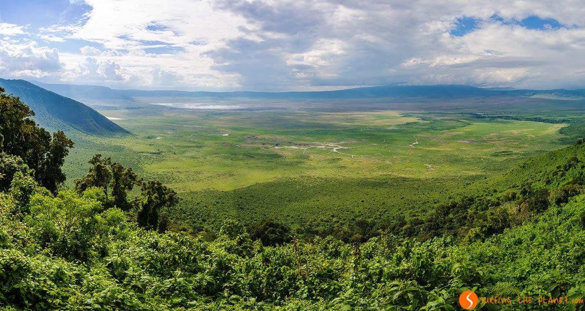 Vista panorámica, Área de Conservación de Ngorongoro, Tanzania | Safari en el Cráter de Ngorongoro