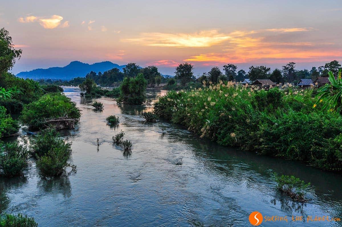 Atardecer Don Khone, Laos