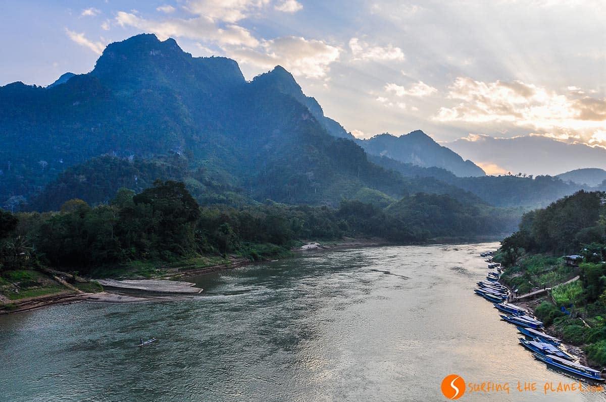 Atardecer, Nong Khiaw, Laos