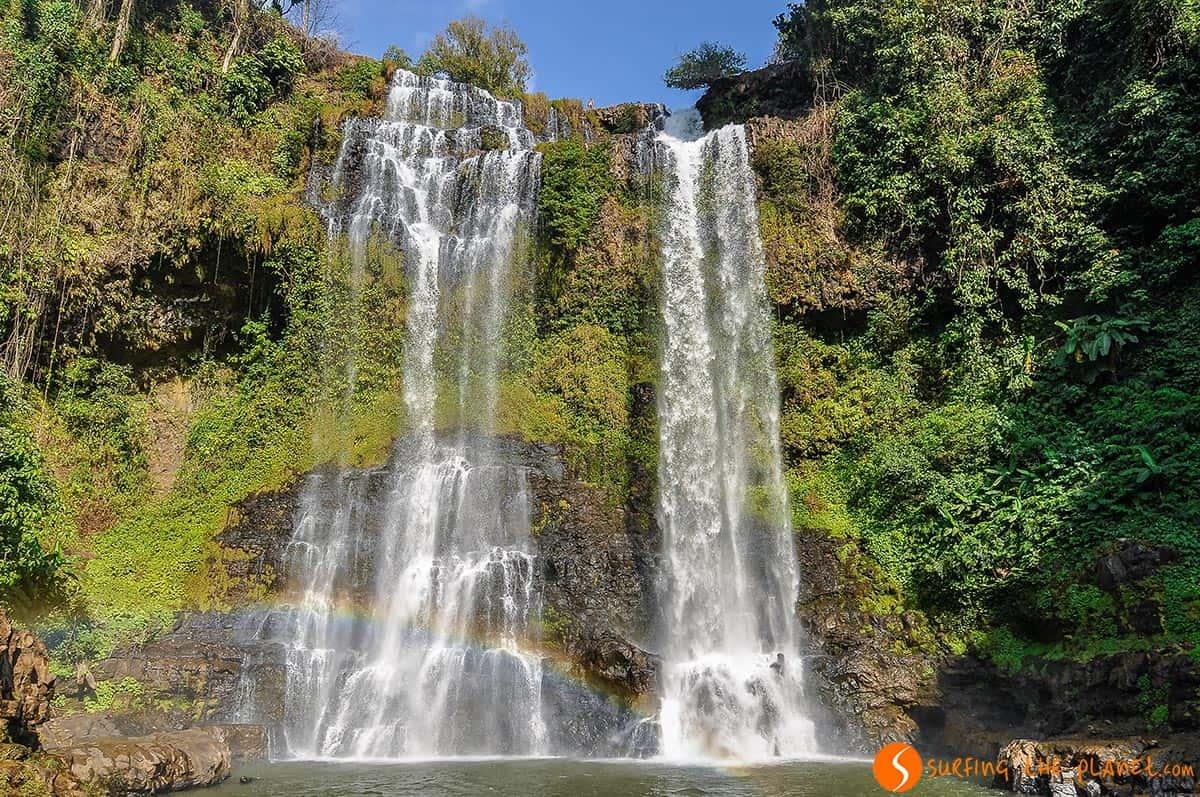 Bonita cascada, Bolaven Plateau, Laos