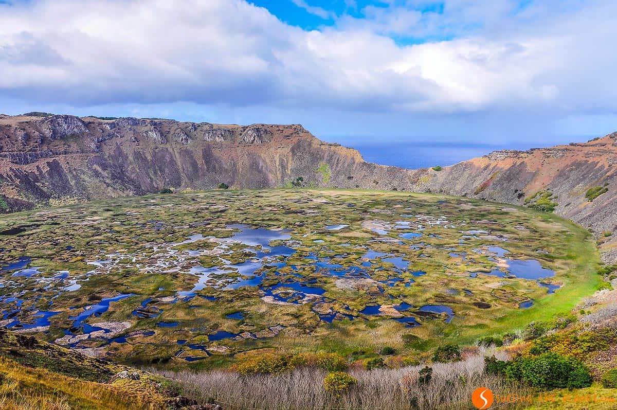 Crater del Volcano Rano Kau, Isla de Pascua, Chile | Viajar a Chile