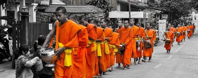 Procesion Matinal, Luang Prabang, Laos