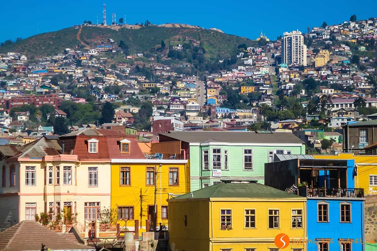 Casas de colores, Valparaíso, Chile