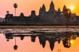 Amanecer, Angkor Wat, Camboya