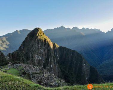 Amanecer en el Machu Picchu, Perú
