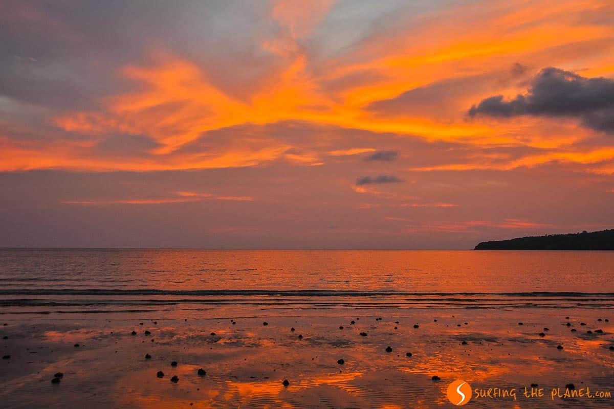 Colors of sunset, Koh Ta Kiev, Cambodia