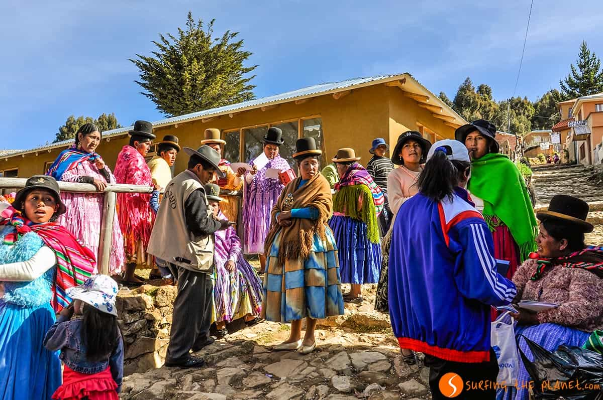 Boda local, Isla del Sol, Bolivia