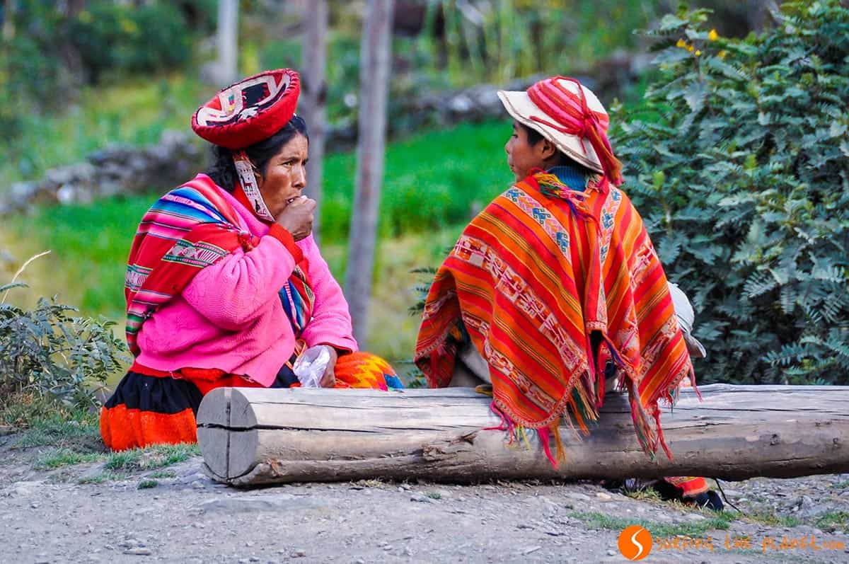 Quechua family in the Andes, Peru