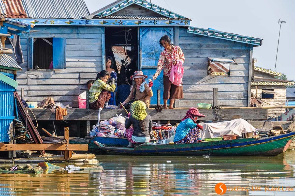 Floating village, Kompong Luong, Cambodia