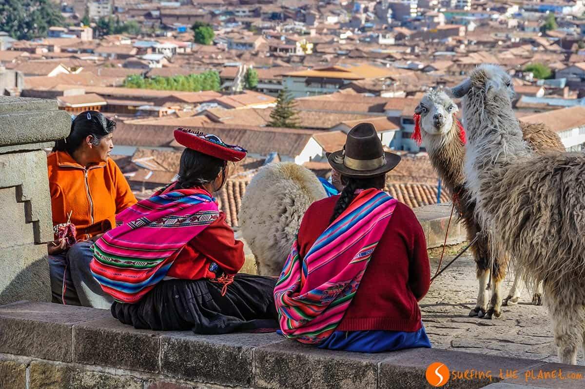 Mujeres quechuas, Cuzco, Perú