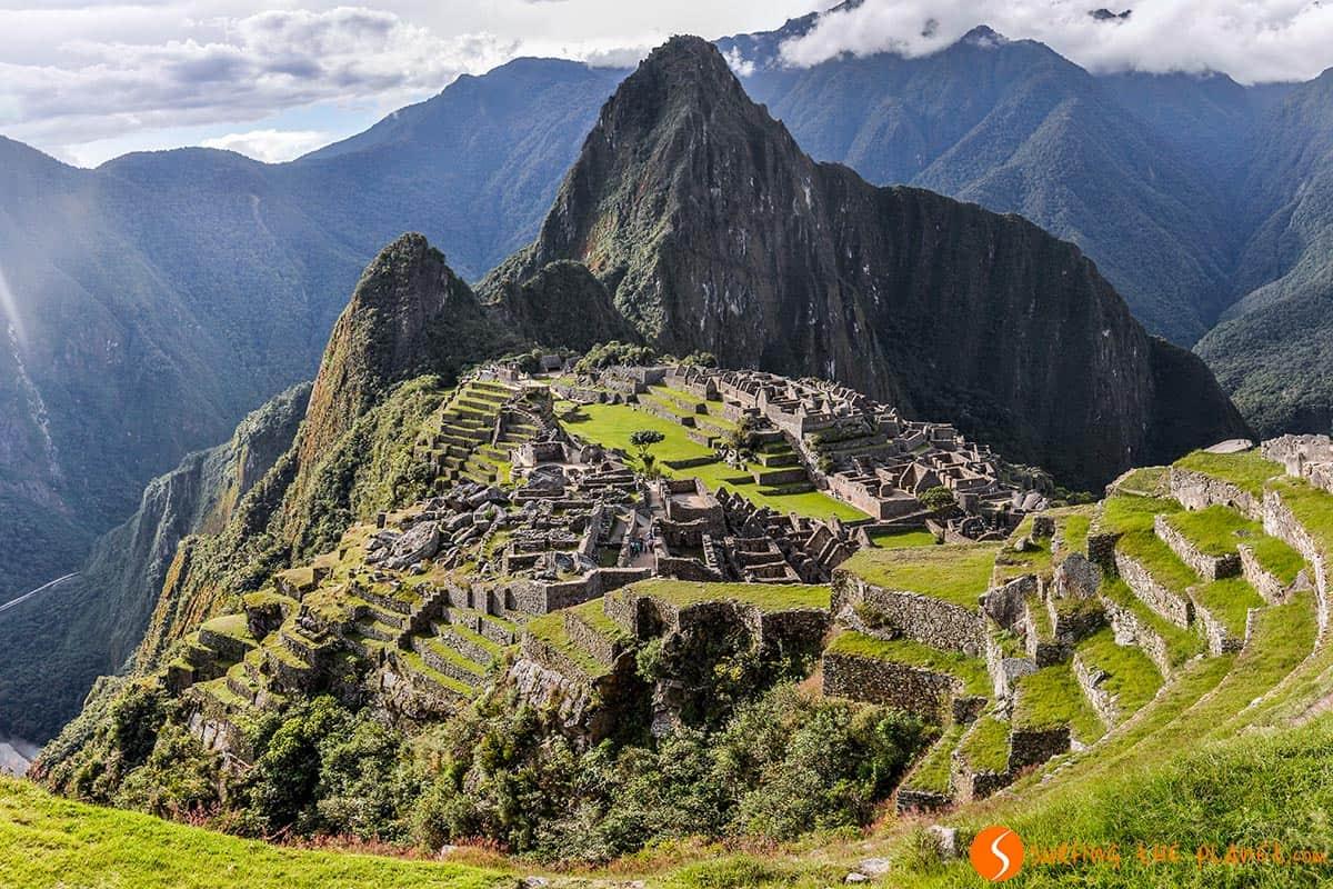 Vista de la tarde, Machu Picchu, Perú