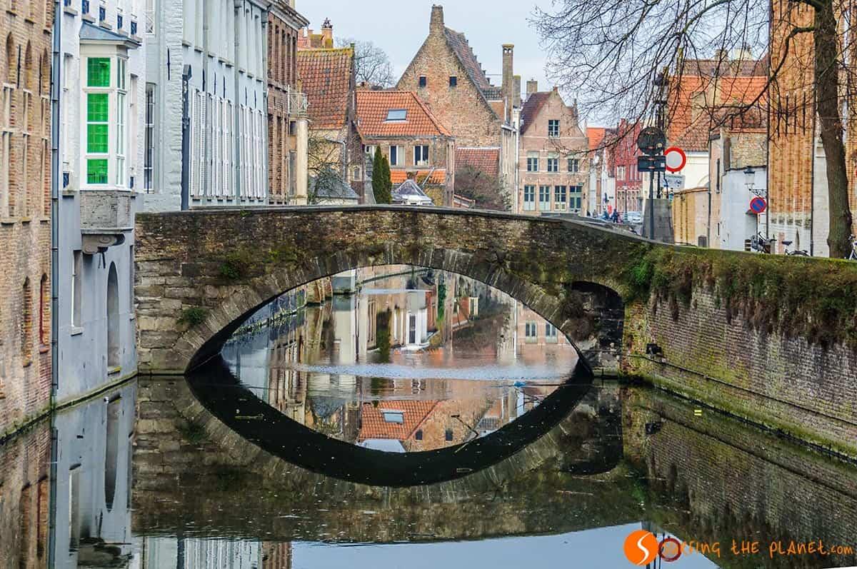 Calm canal, Bruges, Belgium
