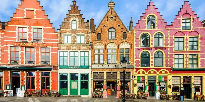 Casas de color, Brujas, Belgica