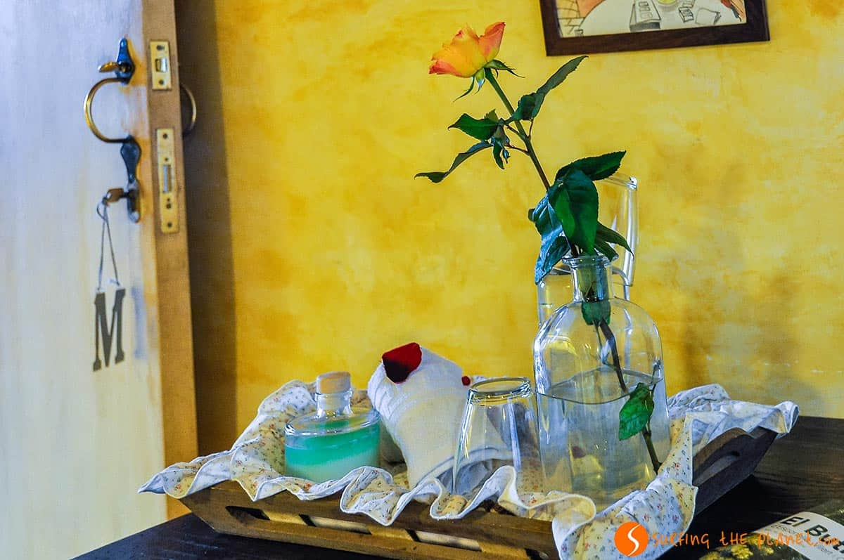 Detalle habitacion, Calma de Rita, Vilert