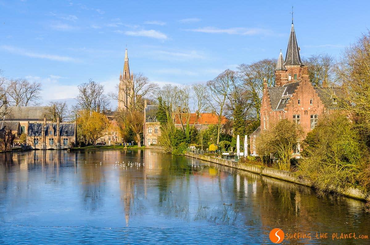 Minnewater, Bruges, Belgio | Itinerario di viaggio Bruges