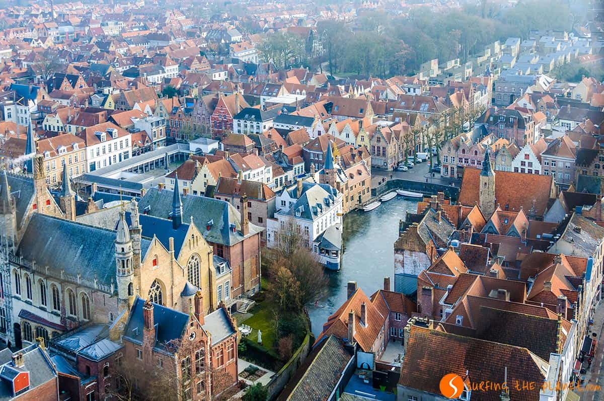 Panorama dal campanile Belfort, Bruges, Belgio | Cosa vedere a Bruges