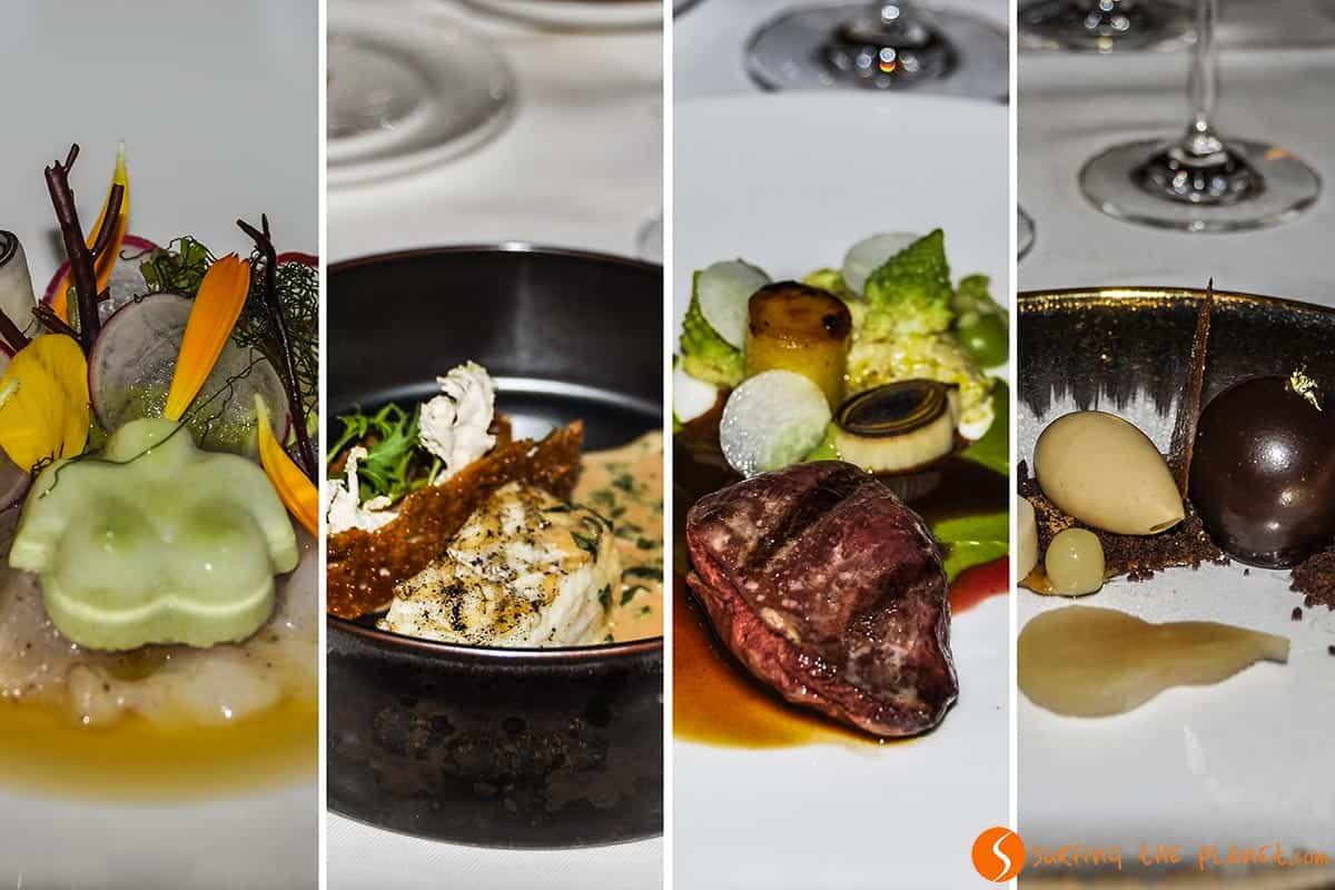 platos de alta cocina, restaurante le Mystique, Brujas