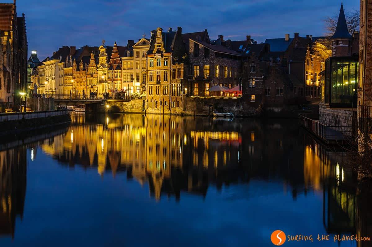 Riflessi del tramonto, Gent, Belgio | Cosa fare a Gent