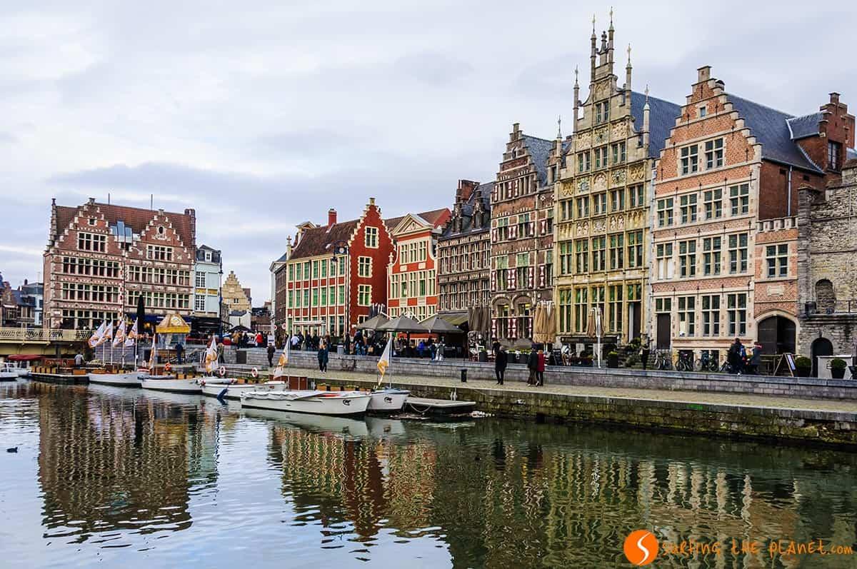 Case medievali fiamminghe, Gent, Belgio
