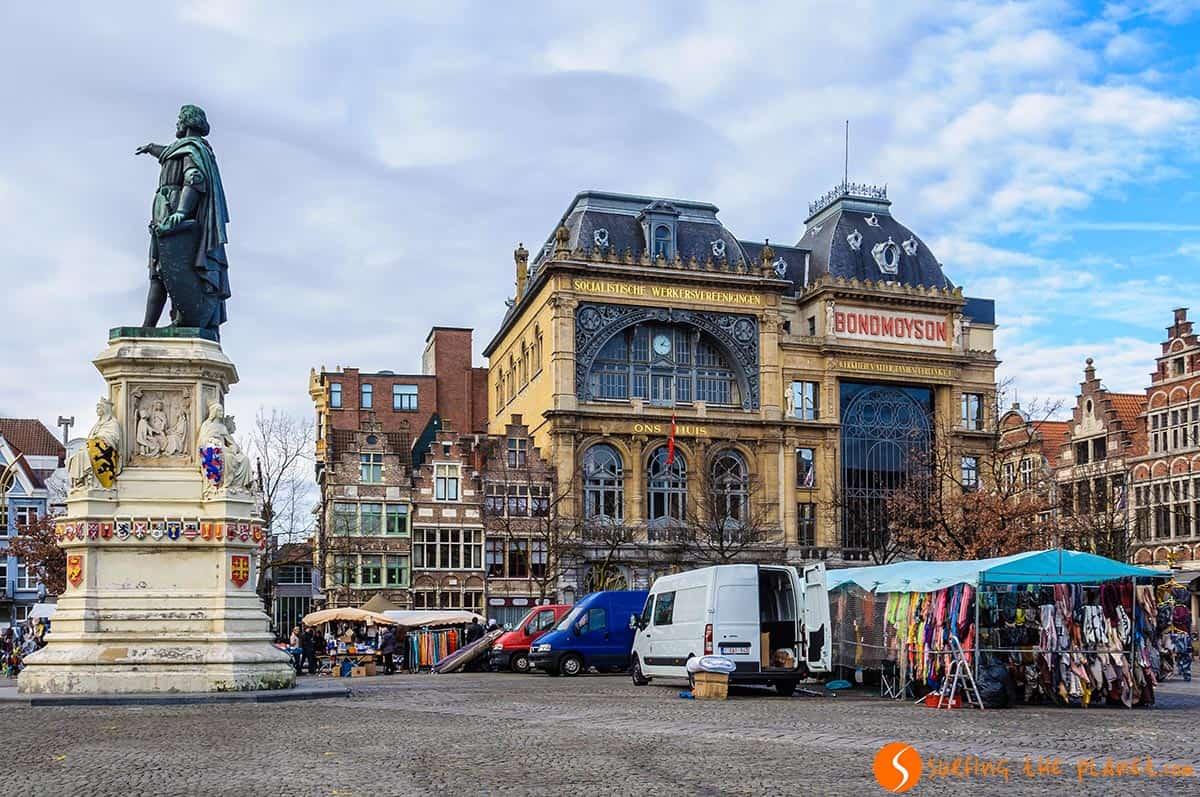 Piazza del mercato, Gent, Belgio