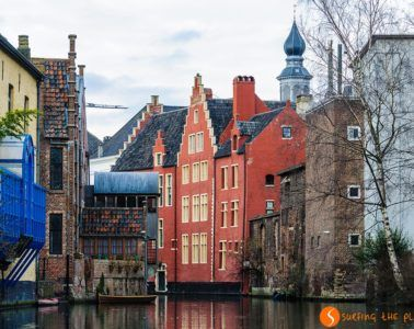 Casas coloridas, Gante, Belgica