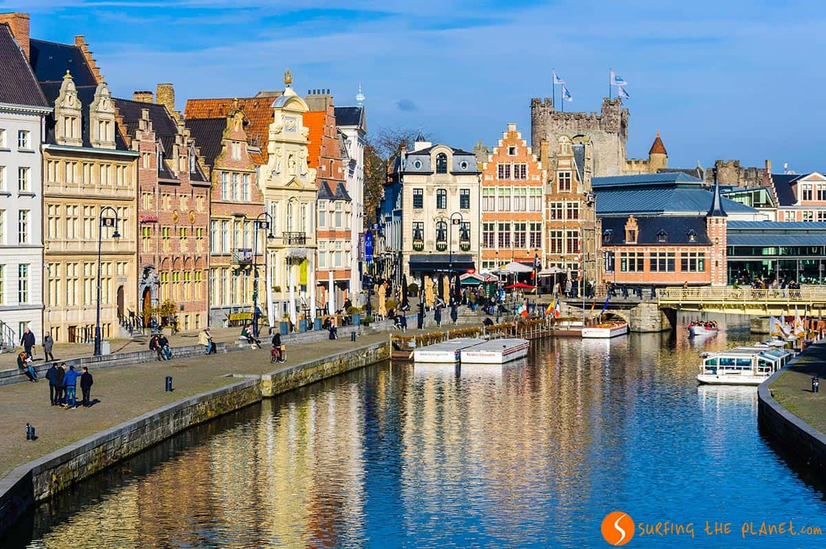 Vista del centro historico, Gante, Belgica | 9 Imprescindibles que ver y hacer en Gante en 1 día