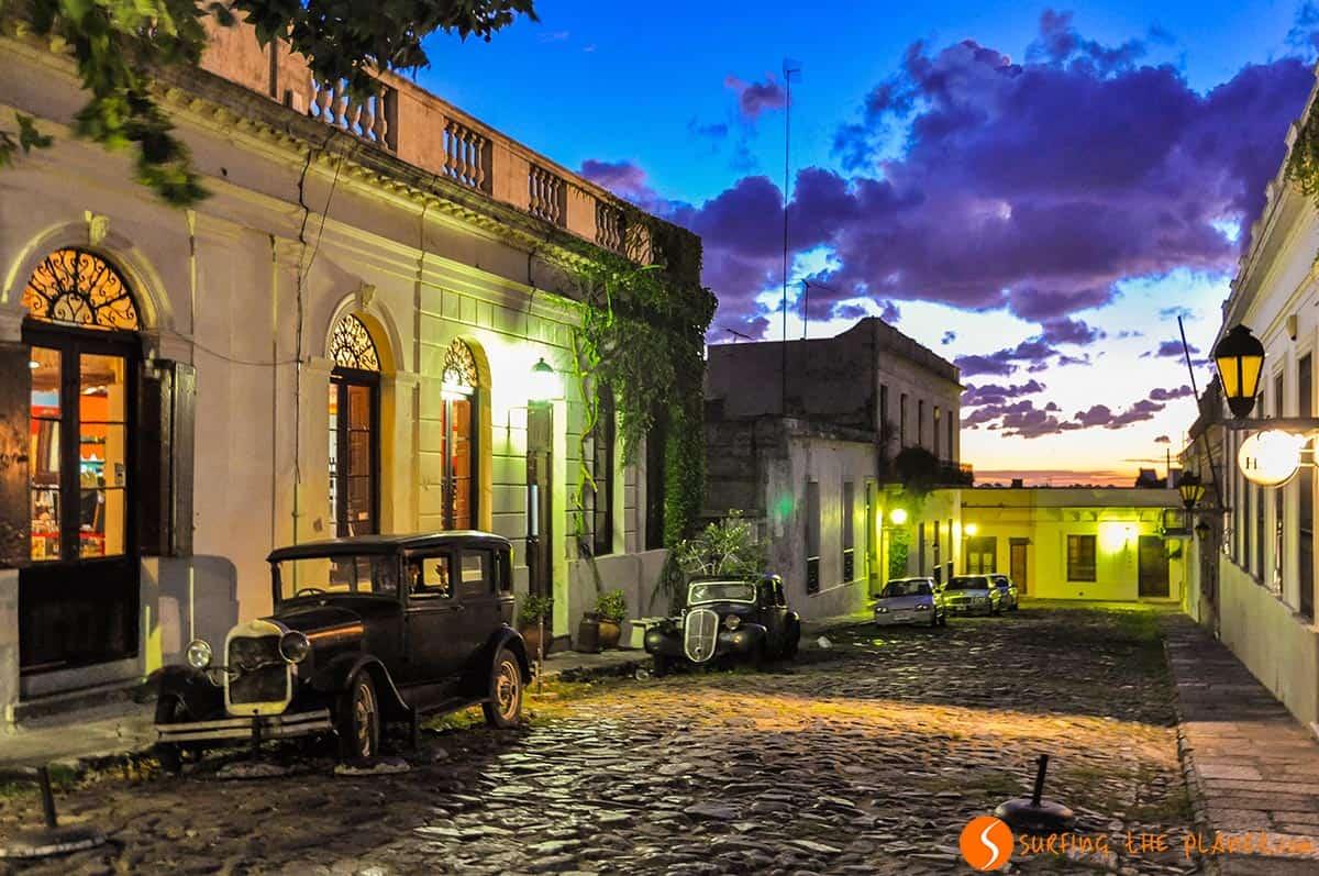 Night lights, Colonia del Sacramento, Uruguay