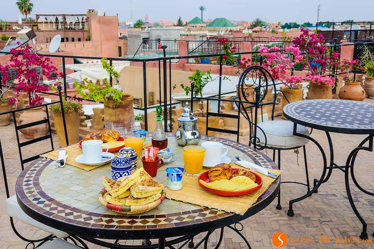 Where to stay in Marrakesh, Breakfast, Riad Mur Akush, Marrakesh