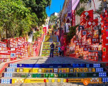 Escaleras Selaron, Río de Janeiro, Brasil