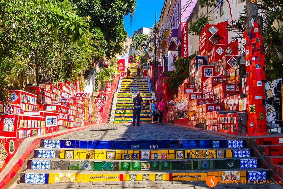 Que ver Brasil, Escaleras Selaron, Río de Janeiro, Brasil